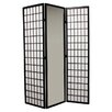 """ORE Furniture 70.25"""" x 30"""" Mirrored 3 Panel Room Divider"""