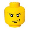 <strong>Small Storage Head Angry Man Toy Box</strong> by LEGO by Room Copenhagen