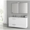 "ACF Bathroom Vanities New Space 47"" Single Bathroom Vanity Set with Mirror"