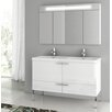 "ACF Bathroom Vanities New Space 47"" Double Bathroom Vanity Set"