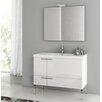 """ACF Bathroom Vanities New Space 39"""" Single Single Bathroom Vanity Set with Mirror"""