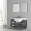 "ACF Bathroom Vanities Phinex 39"" Single Bathroom Vanity Set with Mirror"