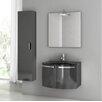 """ACF Bathroom Vanities Crystal Dance 28"""" Single Bathroom Vanity Set with Mirror"""