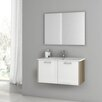 "ACF Bathroom Vanities Nico 33"" Single Bathroom Vanity Set with Mirror"