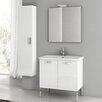 "ACF Bathroom Vanities City Play 29"" Single Bathroom Vanity Set with Mirror"