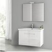 "ACF Bathroom Vanities New York 32"" Single Bathroom Vanity Set with Mirror"