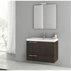 "ACF Bathroom Vanities New Space 31"" Single Bathroom Vanity Set with Mirror"