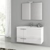 "ACF Bathroom Vanities New Space 39"" Single Bathroom Vanity Set with Mirror"