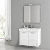 """ACF Bathroom Vanities Cubical 30"""" Single Bathroom Vanity Set with Mirror"""