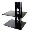 <strong>Mount-it</strong> Dual Glass DVD/DVR/Component Wall Mount Shelf