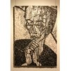 Portrait of Rubenstein in Bianco E Nero Framed Art Mosaic Republic
