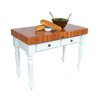 American Heritage Rustica Prep Table with Butcher Block Top