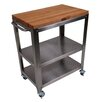 John Boos Cucina Americana Culinarte Kitchen Cart with Butcher Block Top