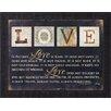 Art Effects Love Is by Marla Rae Framed Textual Art