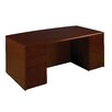 "OSP Furniture Sonoma 72"" Bow Front Executive Desk with Optional Double Pedestal"