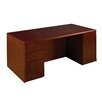 "OSP Furniture Sonoma 66"" W Double Executive Desk"