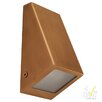 240V LED One Light Square Wall Wedge Light in Solid Copper Havit Lighting