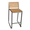 <strong>Bayside Furniture</strong> Teak Stripe III Barstool (Set of 2)