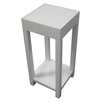 <strong>Kua Ghost Pedestal Table in White</strong> by Global Group