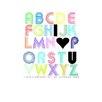 <strong>I Love U Alphabet Fun Poster Print</strong> by Bohemian Home
