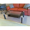 <strong>Glass Top Coffee Table with Black Legs</strong> by Fresh Furniture