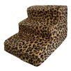 <strong>Best Pet Supplies</strong> Animal Print 3 Step Pet Stair