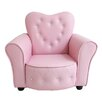 Heart Kids Toddler Sofa Couch in Pink All 4 Kids