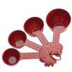 Paula Deen Signature Kitchen Tools 4-Piece Dry Melamine Measuring Cup Set