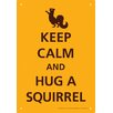 <strong>NMR Distribution</strong> Keep Calm Squirrel Tin Sign Textual Art