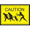 <strong>NMR Distribution</strong> Caution Zombies Tin Sign Vintage Advertisement