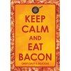 NMR Distribution Keep Calm Eat Bacon Tin Sign Textual Art