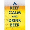 <strong>NMR Distribution</strong> Keep Calm Beer Tin Sign Textual Art