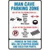 NMR Distribution Man Cave Parking Zone Tin Sign Graphic Art