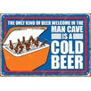 NMR Distribution Man Cave Cold Beer Tin Sign Vintage Advertisement
