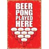 <strong>NMR Distribution</strong> Beer Pong Played Here Tin Sign Textual Art