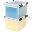 Iris Letter/Legal Weather Tight File Box with Latches and Foam Seal (Set of 6)