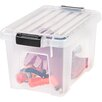 Iris Heavy Duty Plastic Latch Tote with Lid (Set of 4)