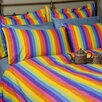 <strong>Sin In Linen</strong> Colorful Rainbow Print Cotton Duvet Cover Collection