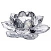 <strong>Lotus Glass Tealight Holder in Clear</strong> by Amalfi