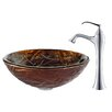 <strong>Kraus</strong> Dryad Glass Vessel Sink with Ventus Faucet
