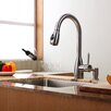 "Kraus 23"" x 18.75"" Undermount Kitchen Sink with Kitchen Faucet and Soap Dispenser"