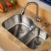 "Kraus 31.5"" x 20.5""  8 Piece Undermount Double Bowl Kitchen Sink Set"