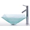 <strong>Kraus</strong> Square Alexandrite Glass Sink and Sheven Faucet