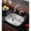 "<strong>23"" x 17.75"" 4 Piece Single Bowl Kitchen Sink Set</strong> by Kraus"