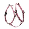 "Tickled Pink 1/2"" Adjustable Small Dog Roman Harness"