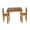 Hardwood Table and Two Chairs Q Toys