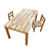 <strong>Hardwood Rectangular Table and Standard Chairs</strong> by Q Toys