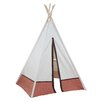 "<strong>Hideaway 72"" Polka Dot 5 Panel Teepee</strong> by Dexton Kids"