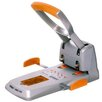 Ergonomic Heavy Duty Punch in Silver/Orange Rapid