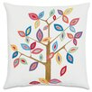 Eastern Accents Folkloric Whimsical Tree Pillow